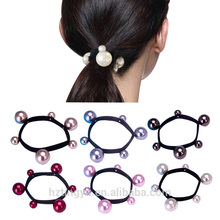 Fashion Gold Handmade Crystal Pearl Flower handle rose flower pearl headband girls