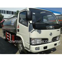 Dongfeng 5m3 mini milk tanker truck