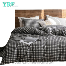 Home Textile Cotton Fabric Bed Sheets New Product Cheap Price Black Stripe Checker
