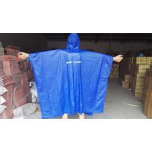 poncho de lluvia de pvc reutilizable con logo