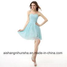 Robes de bal plissées courte nouvelle robe de bal dos lacets