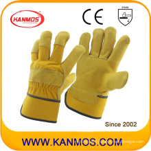 Cowhide Cow Grain Leather Industrial Safety Work Gloves (12003)