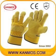 Перчатки из натуральной кожи из коровьего зерна для промышленной безопасности (12003)