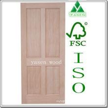 Porte en bois de panneau de pin radié d'usine 4