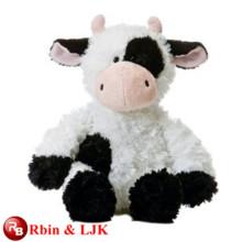 Treffen Sie EN71 und ASTM Standard ICTI Plüschtier Fabrik gefüllte schwarze Kuh Spielzeug