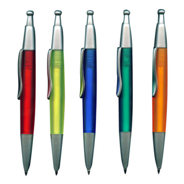 Plastic Promotion Half Metal Ball Pen