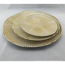 Plating Set Of 3 Gold Glass Charger