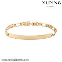 74609 xuping nuevo diseño pulsera de bebé chapado en oro 18k
