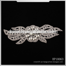 O applique mais atrasado do rhinestone do cristal da venda a mais quente frisou a guarnição nupcial para vestidos de casamento China fabricante