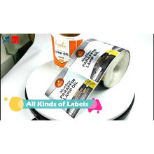 Custom self adhesive printing food sticker label round circle jar Labels