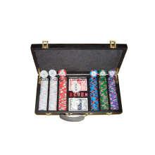 Chip de poker 300PCS dans une boîte en bois (SY-S21)