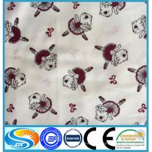 Algodão 20 * 12 40 * 42 algodão impresso escovado atacado tecido de flanela dupla face impressa