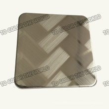 201 Stainless Steel Ket010 Etched Sheet for Decoration Materials