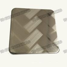 201 Вытравили лист нержавеющей стали Ket010 на отделочные материалы