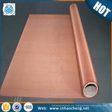tela de malla de alambre de alta resistencia ultra alta de la conductividad rfid copperwoven