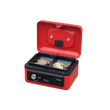 Wholesale 6 inch Money Saving Box Cash Box Money Safe Storage Cheap Metal with cash tray