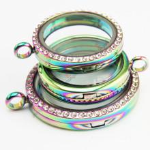 Venda quente arco-íris vivendo jóias Lockets