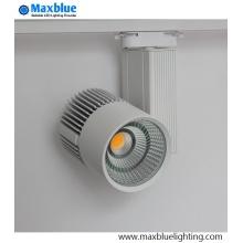 Dimmable COB LED Track Light Fixtures High CRI 80ra / 90ra