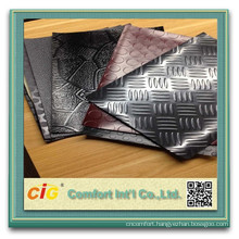 PVC Flooring Roll Car Upholstery Plastic Steel Coin Design pvc flooring non woven