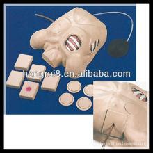 Manequim de drenagem pleural ISO, descompressão de pneumotórax, modelo de drenagem de tórax