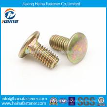 DIN603, DIN605, DIN608 color cinc plateado cabeza cuadrada cuello cuadrado perno, perno de carro