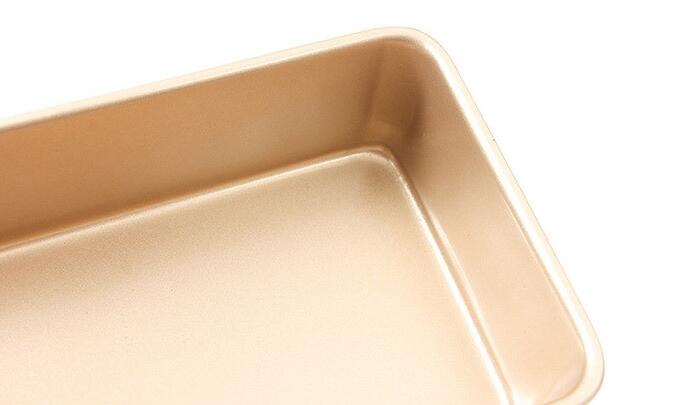 9'Golden Non-stick Rectangular Cake Mold (8)