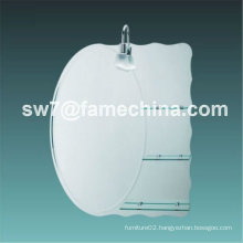 2012 simple and naturalistic bathroom mirror with glass shelf