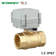 """1 """"Válvula de água de esfera de bronze do atuador elétrico de 2 maneiras (T25-B2-A)"""