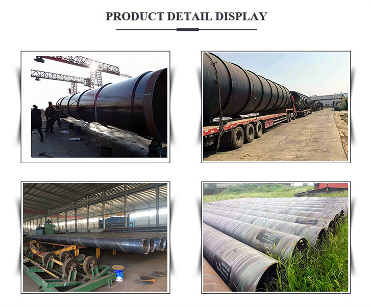sprial steel pipe display