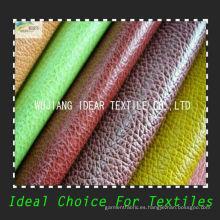 Todos colores PU relieve suave tapicería de cuero/tela/imitación PU cuero tela