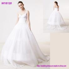 Schöne lange Chiffon Applique entworfene Qualitäts-Hochzeits-Kleid