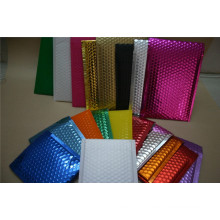 Electroplating Aluminum Composite Bubble Bags / Color Plastic Bubble Envelope