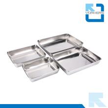 Restauration et fournitures d'hôtels en acier inoxydable Metal Serving Trays Wholesale