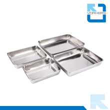 Restaurant & Hotel Supplies Stainless Steel Metal Serving Trays Wholesale
