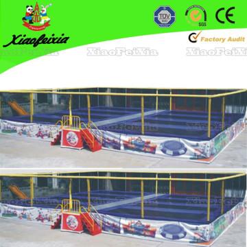 Trampolim com cama de oito camas com rede de segurança
