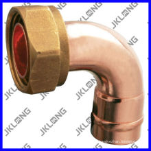 J9602 Codo de 90 grados de cobre con el casquillo