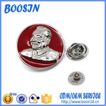 Pin de broche de insignia política de metal personalizado