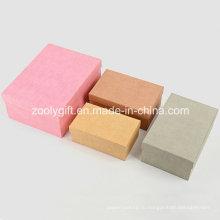 Ассорти из цветной ткани Текстурированная бумага Подарочные упаковочные коробки