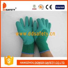 Green Nylon Green Latex Gloves Dnl612