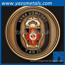 customize USNS comfort naval ship challenge coin