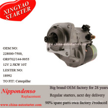 Construction Machine Caterpiller Used Denso Starter with Solenoid (228000-7500)