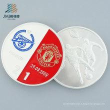 Рекламные Подарок Металл Ремесла Пользовательские 999 Серебро Футбол Сувенирная Монета