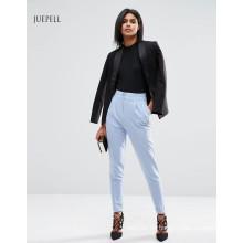 Uniform-Büro-hoch taillierte Frauen Hosen mit umdrehen Details