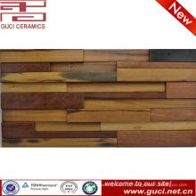 Китай поставщик магазин и комната мозаика деревянная панель стены плитки