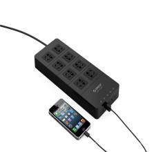 Vente en gros ORICO HPC-8A5U 8 prises électriques avec 5 USB HUB