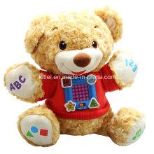 Preescolar Educativo Baby Music Plushed Regalo de Navidad Teddy Bear Toy