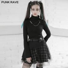 PUNK RAVE OPQ-892BQF girls dark series sexy women clothes mini vintage club wholesale high waist mesh skirt