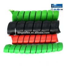 Best quality black red spiral hydraulic hose guard