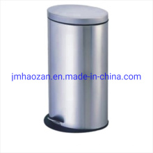 Cubo de basura ovalado de acero inoxidable Cubo de basura de pétalos