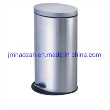 Ovaler Abfallbehälter aus Edelstahl Blütenblatt-Staubbehälter